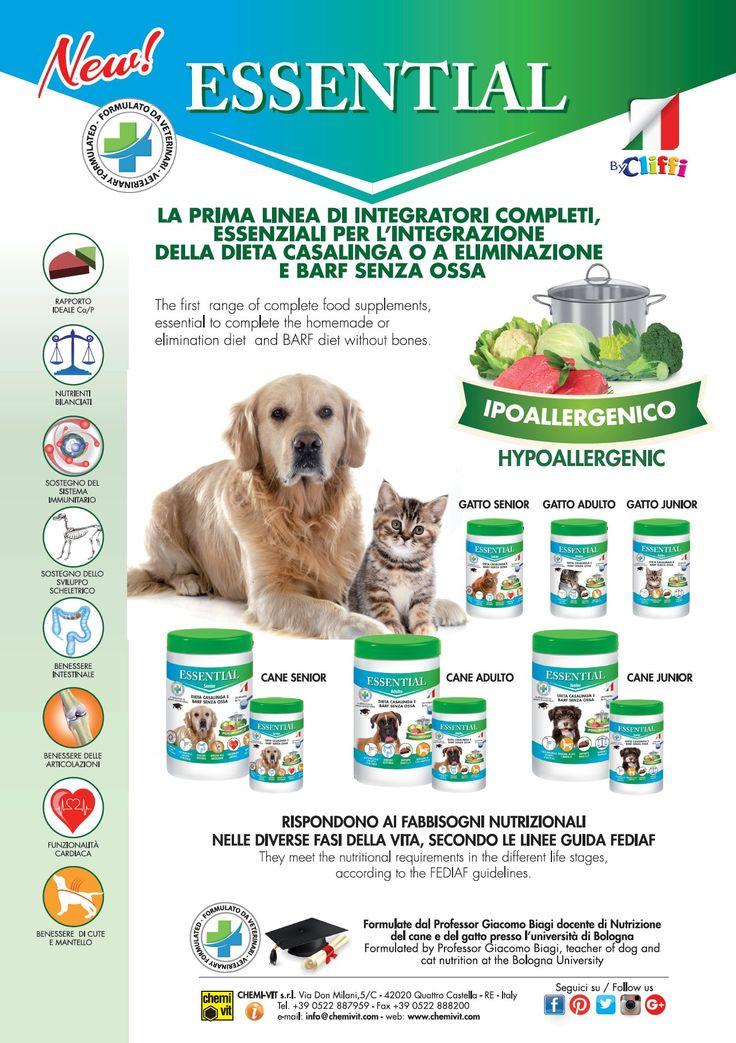 Essential: integratori per la dieta casalinga - Home made diet supplements