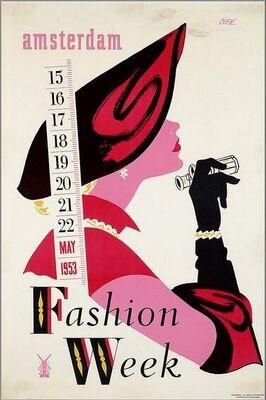 Fashion week Amsterdam, May 1953. Eppo Doeve.