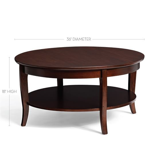 Chloe Round Coffee Table Mahogany Stain Coffee Table Pottery Barn - Pottery barn chloe end table