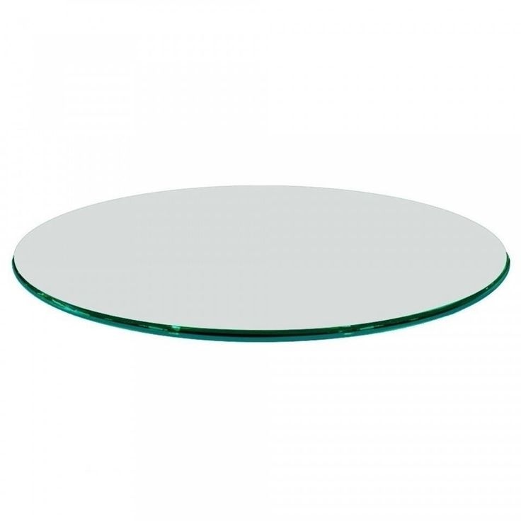 3/4 Thick Round Glass Table Top Ogee Polish Tempered (54 inch round), Clear