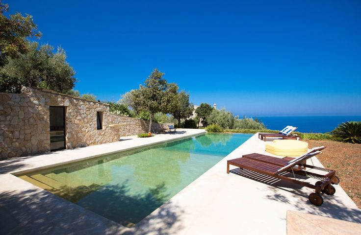 Villa Infinito Mare, Sicily - Sleeps up to 8. A welcoming house on Sicily's north coast, this luxury villa in Sicily sits in very extensive grounds and combines unique character with easy accessibility to shingles and sandy beaches below.