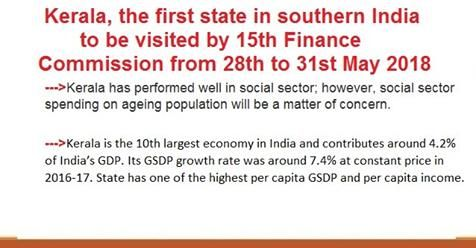 Kerala, the first state in southern India, to be visited by