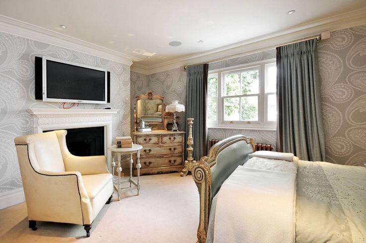 Светлая винтажная спальня   #винтаж #индийскийогурец #пейсли #серый #спальня