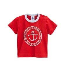 Katoenen T-shirt met opdruk van anker voor babyjongens - Collectie Bleu de Travail - Baby jongen