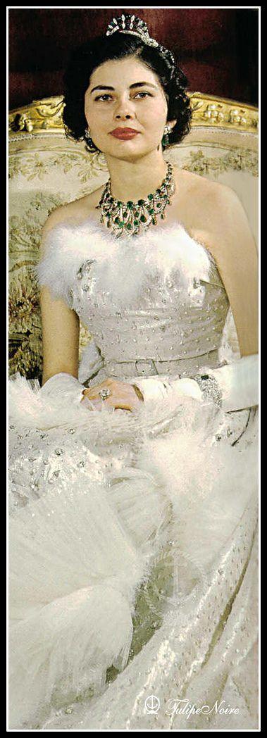 Iranian Crown Jewels,Soraya Esfandyari ,was Queen of Iran as the second wife of Mohammad Reza Pahlavi, the last Shah of Iran.