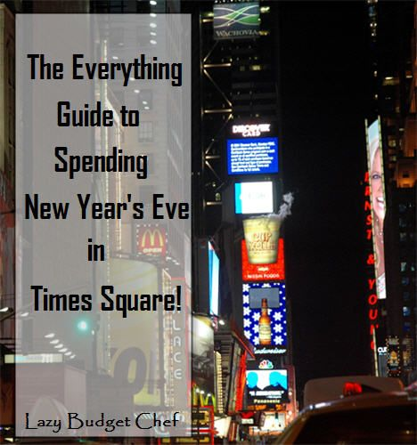 Tips and advice to vacation in New York City Times Square on New Year's Eve