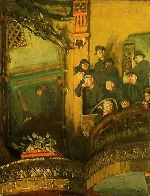 Walter Sickert: 'The Gallery Of The Old Bedford' or 'The boy I love is up in the gallery', 1894-5