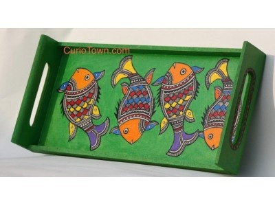 Madhubani Handpainted Tray-2  The traditional art of Madhubani Painting brought to u in a mordern avatar!! - See more at: http://www.curiotown.com/index.php?route=product/product=63_70_id=493#sthash.F7IW84Eq.dpuf