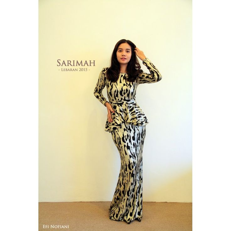 Sarimah - Gold Black (KISS) - New elegant Sarimah peplum dress in gold with black mesh stripes.