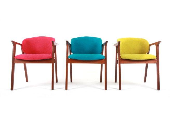 $550 each Scoop Back Occasional Chairs - Mr. Bigglesworthy Designer Vintage Furniture Gallery