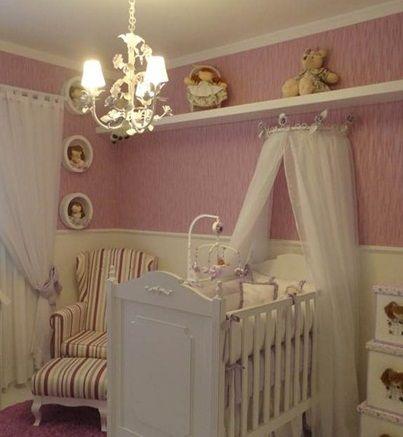 Dossel de berço e lustre provençal , decoração da arquiteta Fernanda Guizzi  , peças no site oficial da loja www.donamix.com.br