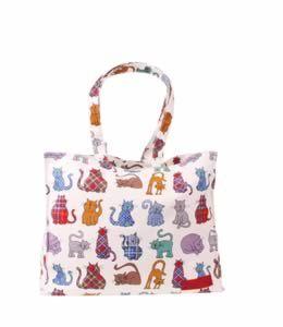 Tartan Tabbies Long Handle Bag