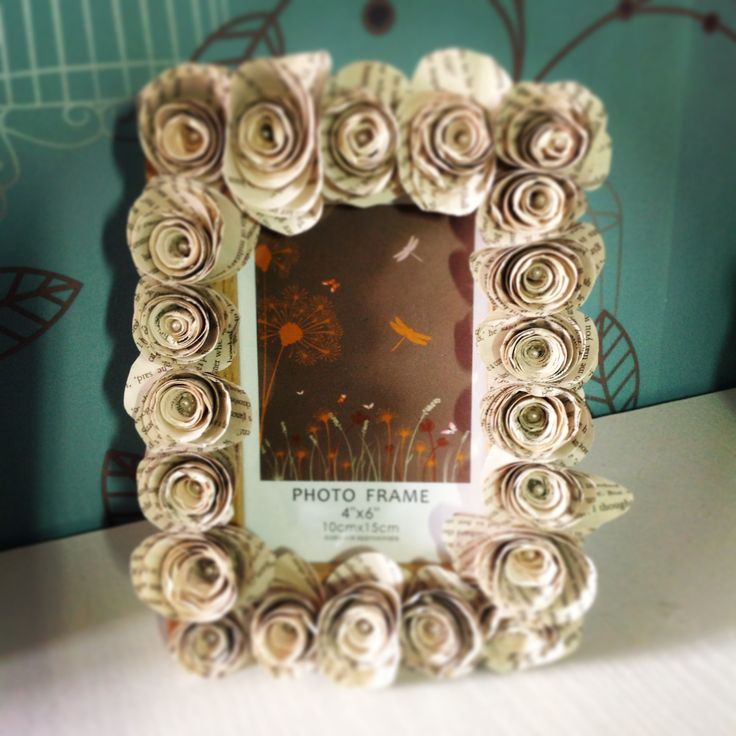 Paper roses photo frame x