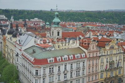View over historical buildings of the old town square, Prague, Czech Republic