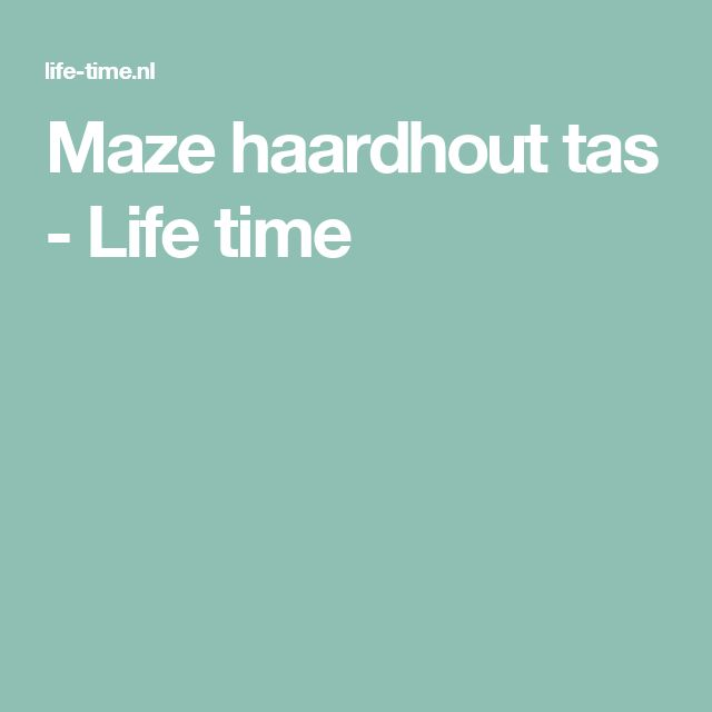 Maze haardhout tas - Life time