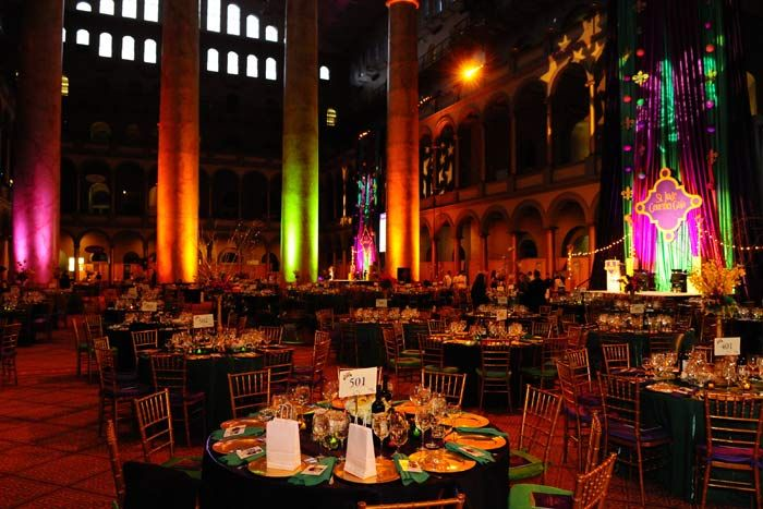 Decor for the Fat Tuesday fete | SocialTables.com | Event Planning Software