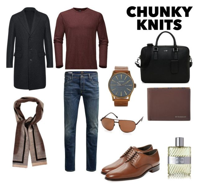 """""""Casual Conversation"""" by somethingnewwithelisha ❤ liked on Polyvore featuring Neil Barrett, The North Face, Jack & Jones, Bruno Magli, Armani Jeans, Prada, Christian Dior, Burberry, Zegna and men's fashion"""