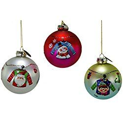 Katherine's Collection Christmas Ugly Sweater Hanging Ball Ornaments (Set/3)