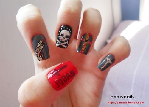 lady gaga song judas inspired nails