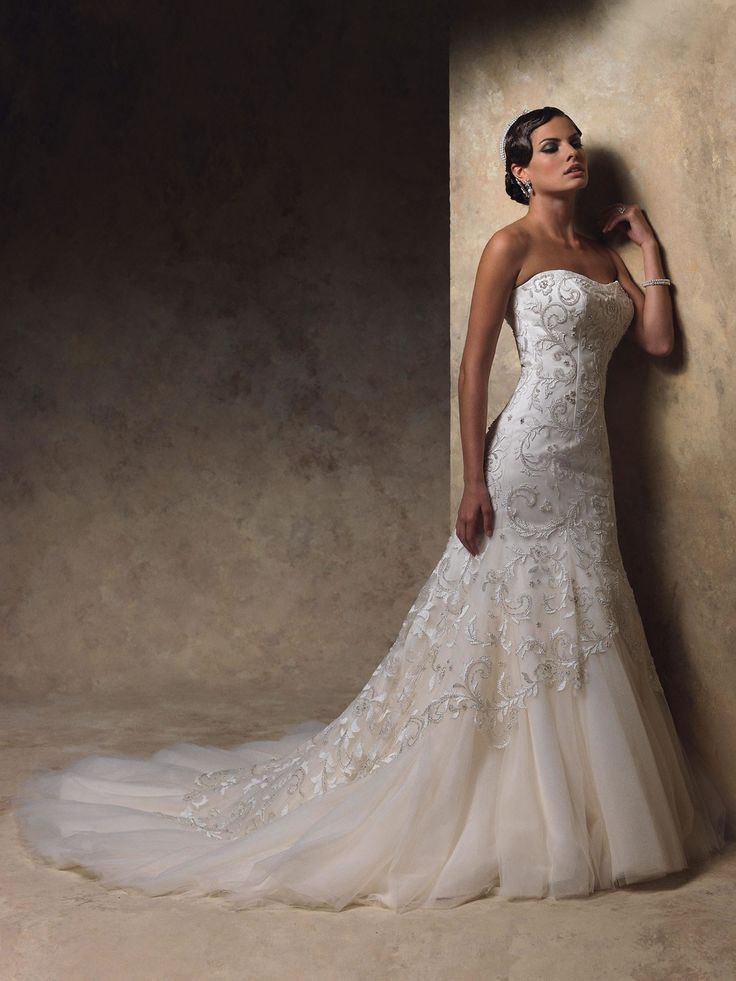 Sirène robe de mariée en satin