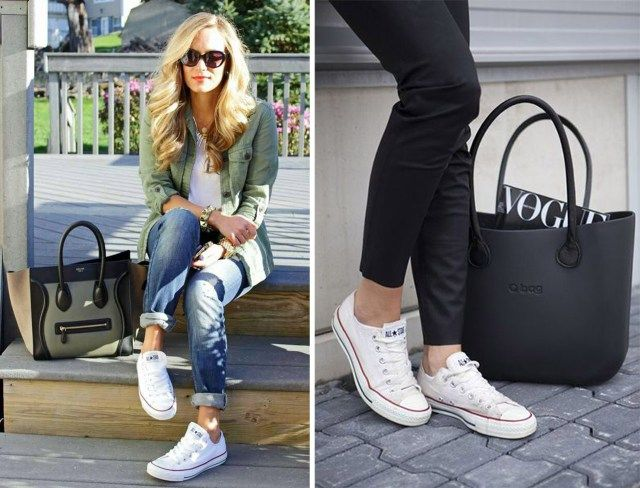 converse blanche femme style