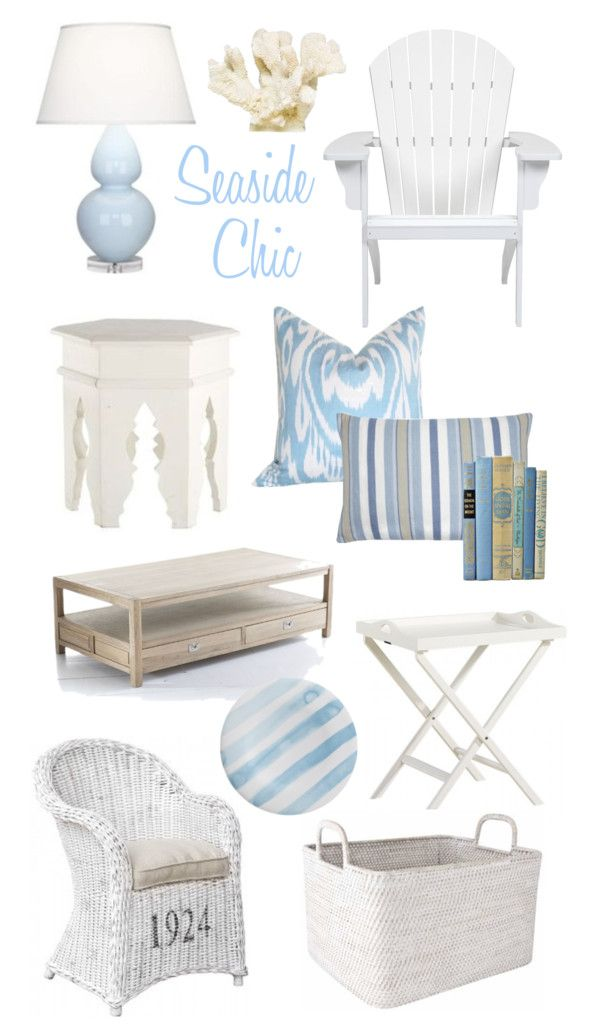 Shabby Chic Beach Cottage Style, only a touch of blue here and there. use more neutrals and add pops of colours