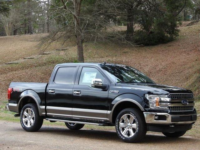 Shadow Black 2018 Ford F 150 Lariat 16 22 Mpg Crew Cab Pickup 5 0l