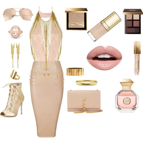 How to...Prety pink golden look by vicky-angelidou-pappas on Polyvore featuring Agent Provocateur, Gianvito Rossi, Yves Saint Laurent, Effy Jewelry, Allurez, Lele Sadoughi, Marcia Vidal, Linda Farrow, Burberry and Bobbi Brown Cosmetics