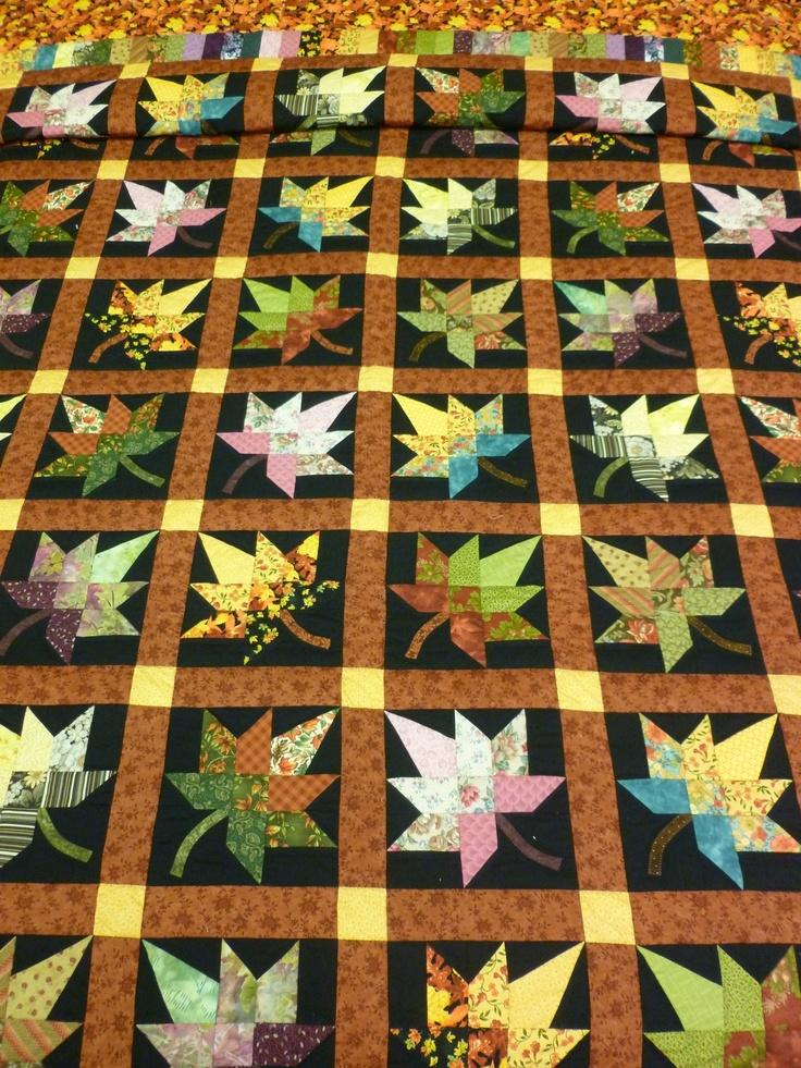 166 best Quilts - Maple Leaf images on Pinterest | Quilt block ... : leaf quilts - Adamdwight.com