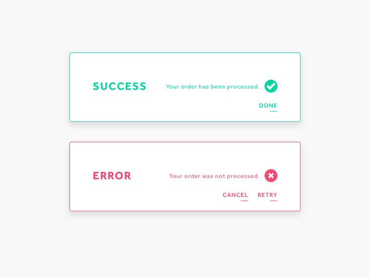 DailyUI 11: Flash Message (Success/Error)