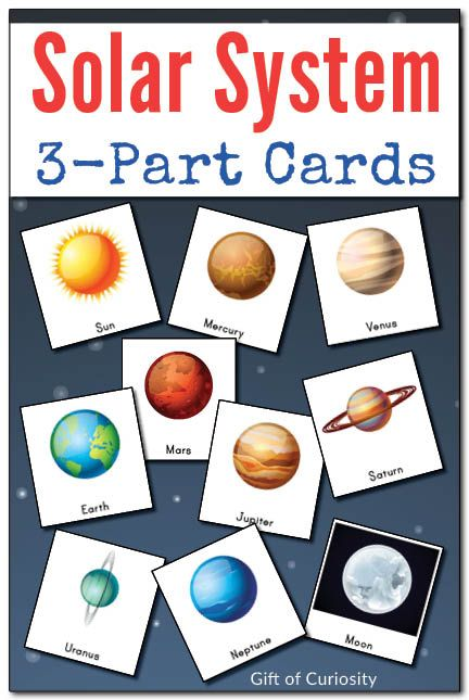Solar System 3-part cards || Gift of Curiosity