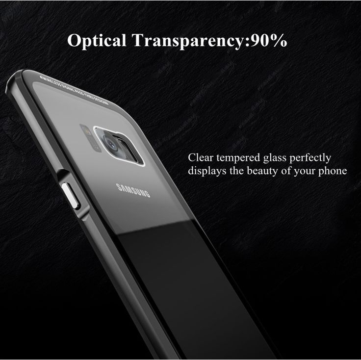 Luphie Anti Knock Metal Bumper+Transparent 9H Tempered Glass Back Cover Case For Samsung Galaxy S8 Plus 6.2