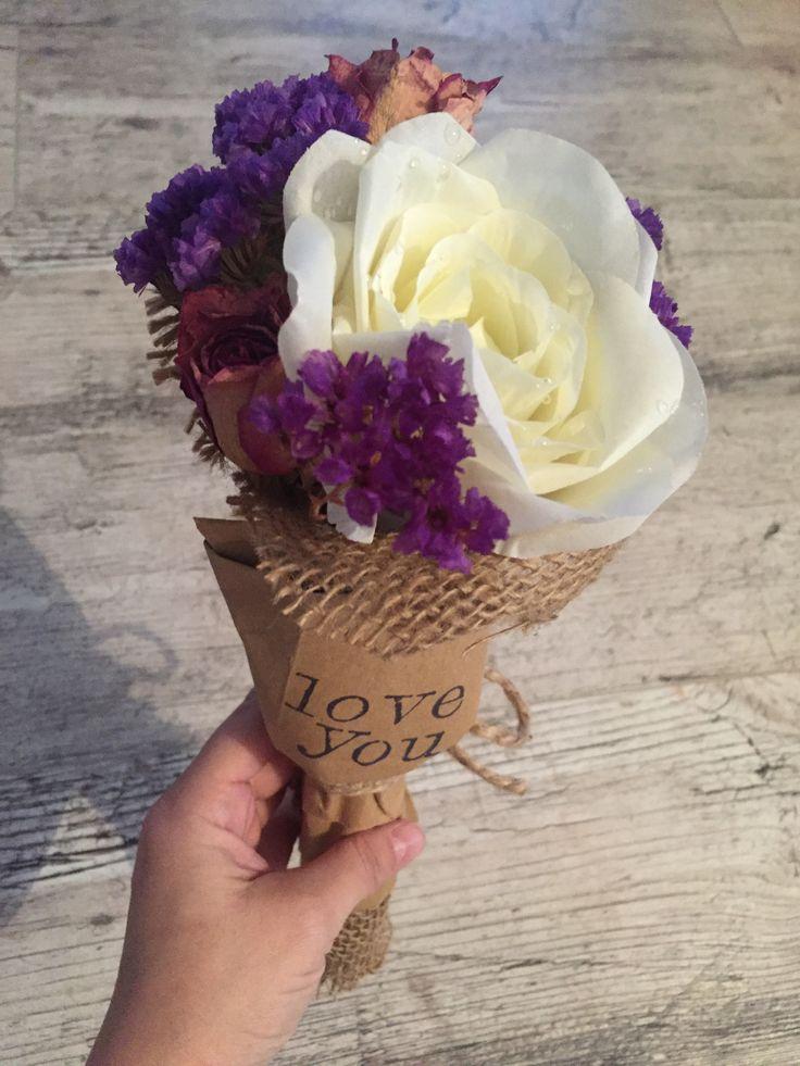 Mini flower bouquet diy