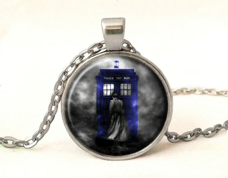 TARDIS Necklace, DR WHO Pendant, 0364POS from EgginEgg by DaWanda.com