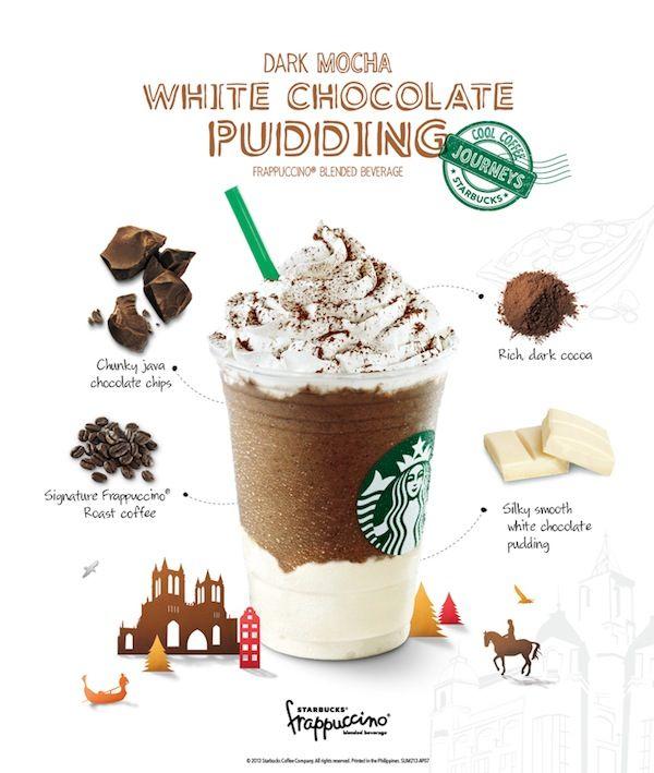 Starbucks Starbucks Philippines White Chocolate Chocolate Pudding New Treats Dark Mocha Green Tea White Chocolate Starbucks Chocolate Pudding