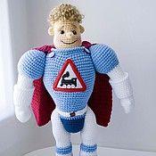 Bambole e giocattoli fatti a mano.  Fiera Masters - handmade Arkady motore a vapore (34 cm) da regalo toy boy.  Handmade.