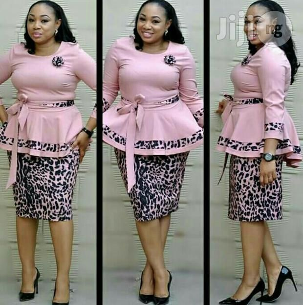 Tiger Skin Peplum Dress For Sale In Isolo Buy Clothing From Veras Exclusi African Print Fashion Dresses African Attire Dresses Latest African Fashion Dresses