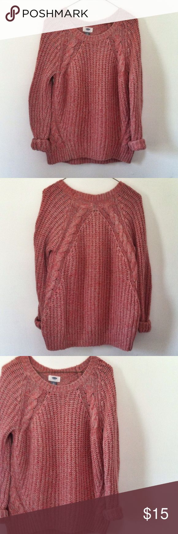 Old Navy Sweater Shirt Top Medium Excellent used condition. Worn a handful of times. Long sleeve knit sweater. Color: pink. Size: Medium. Brand: Old Navy. No trades. Free gift with any purchase & 15% off of all bundles. Old Navy Sweaters