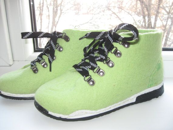 Demi-season shoes. Felted shoes. Shoes .Zhenskaya от kerikfelt