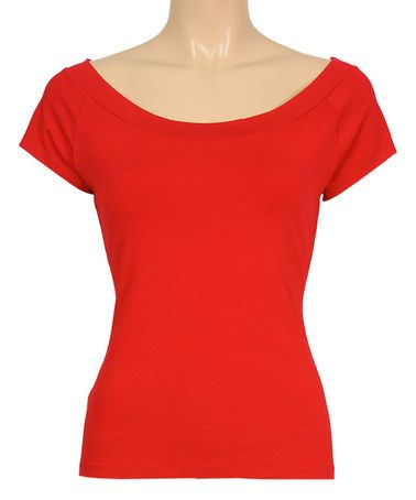 Look what I found on #zulily! Red Sarah Cap-Sleeve Top by Louie et Lucie #zulilyfinds
