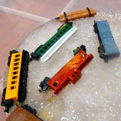 I can't think of a better motivator for a little train lover to put on a thinking cap than to see a collection of toy trains, trapped in ice and in desperate need of rescue. Especially if the toy trains are new, never-before-seen ones, like they were for the Little Engineer when we did this...Read More »