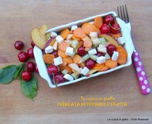 Insalata di verdura e frutta | la cuoca in giallo