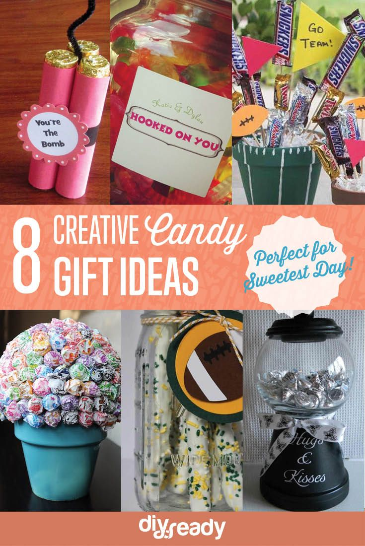 Sweetest Day Candy Gift Ideas | Cute and Fun Gifts For Girls & Boys by DIY Ready at http://diyready.com/10-sweetest-day-gift-ideas/