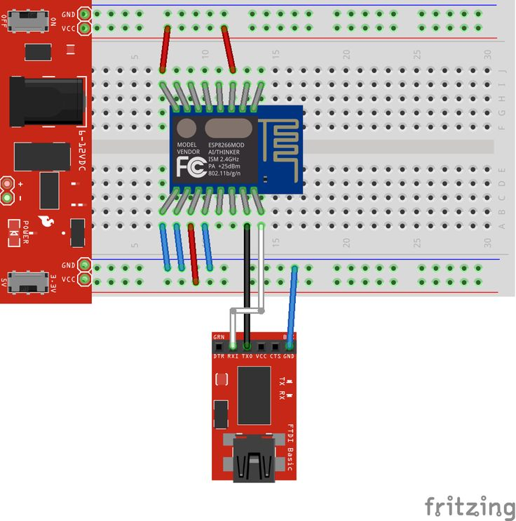 Intro To Esp8266  Includes Nice Diagram For Wiring Of