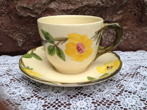 Franciscan Meadow Rose Cup and Saucer Set . by ThePinkVintageRose