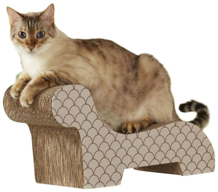 17 best ideas about cardboard cat scratcher on pinterest for Chaise lounge cat scratcher