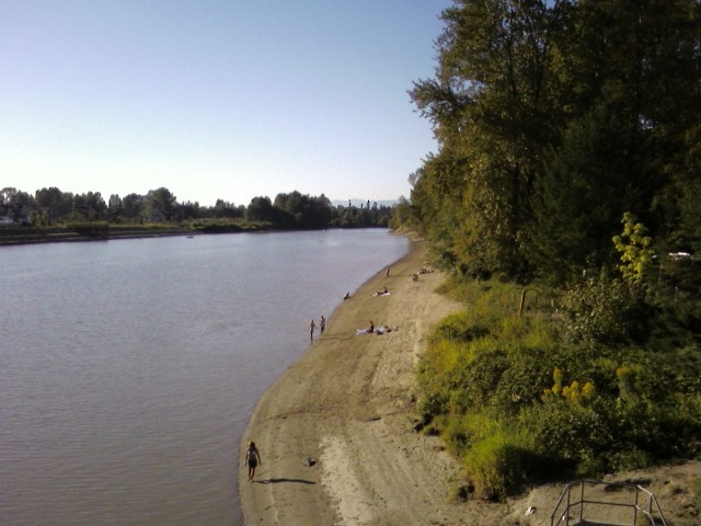 """The """"sandy beaches"""" of Fort Langley, B.C."""