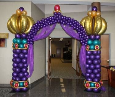 For a Princess Jasmine/Aladdin/Arabian Nights theme! Balloon Entry Arch: Balloonopolis