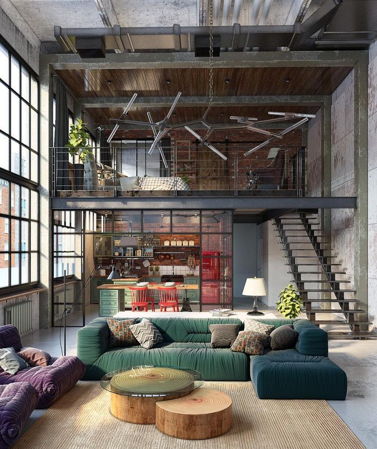 INDUSTRIAL LOFT BY GOLOVACH TATIANA & ANDREY KOT #design #architecture #building #modern #arch #style #lifestyle #productdesign #production #furnituredesign #futuristic #chair #curves #cube #concrete #computer #construction #contemporary #contemporaryhouse #minimal #glass #unique #sculpture #interior #industrial #interiordesign #industrialdesign