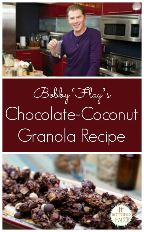 Guys, we have Bobby Flay's Chocolate Coconut Granola recipe. And it does not disappoint.